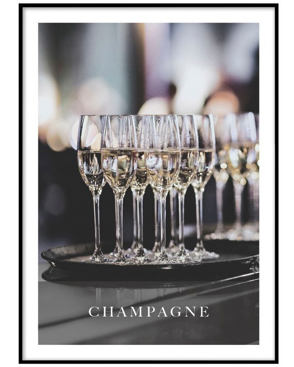 PAPERTOWN - POSTER CHAMPAGNEGLASS
