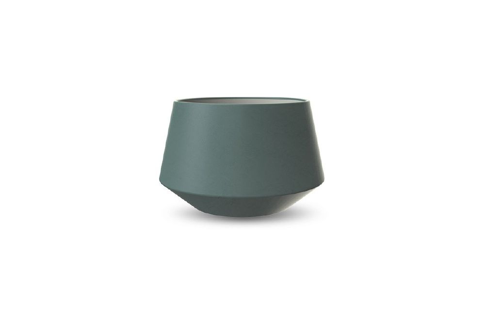 COOEE - POTTE CONVEX DARK GREEN