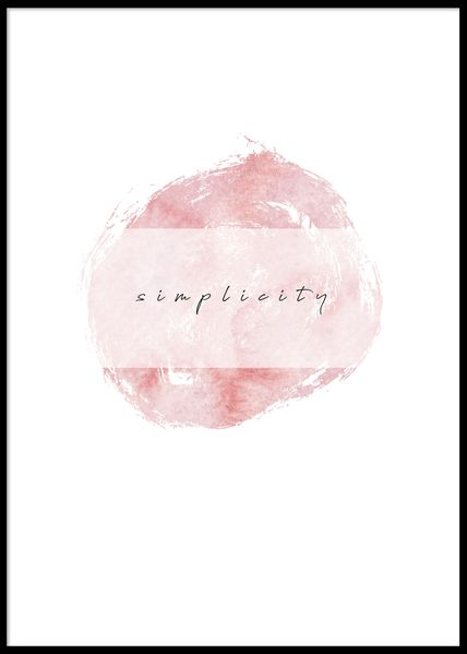 PAPERTOWN - POSTER SIMPLICITY