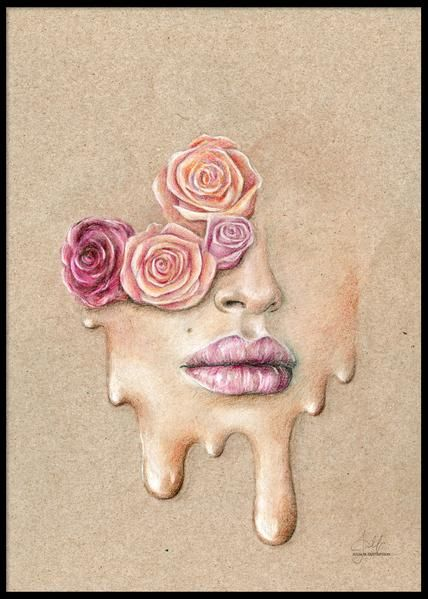 PAPERTOWN - POSTER FLOWER FACE