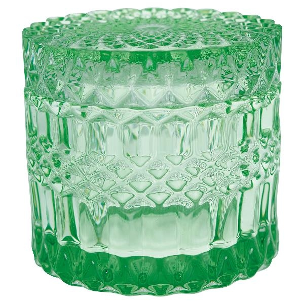 GREENGATE - Grønn glasskrukke, medium
