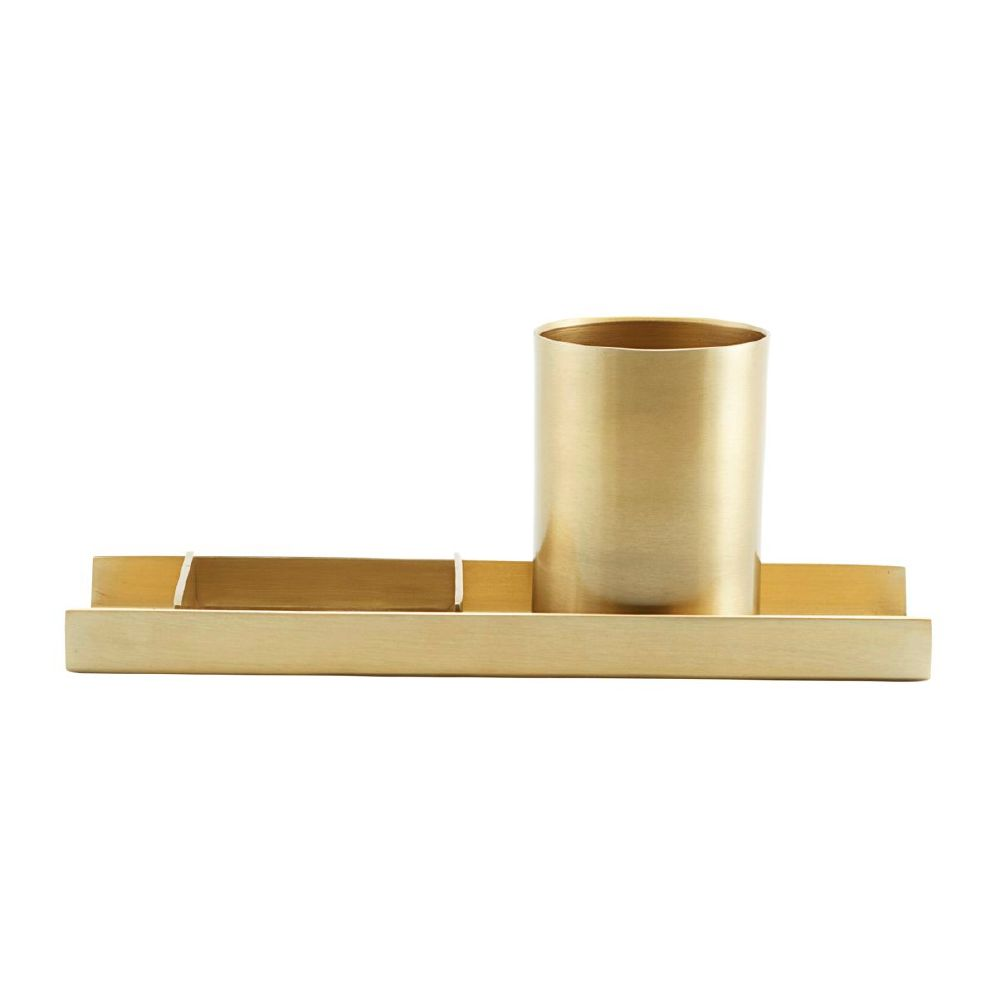 MONOGRAPH - ORGANIZE, BRASS FINISH