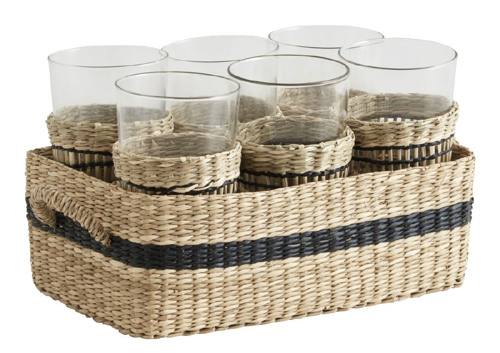 NORDAL - KURV MED 6 GLASS