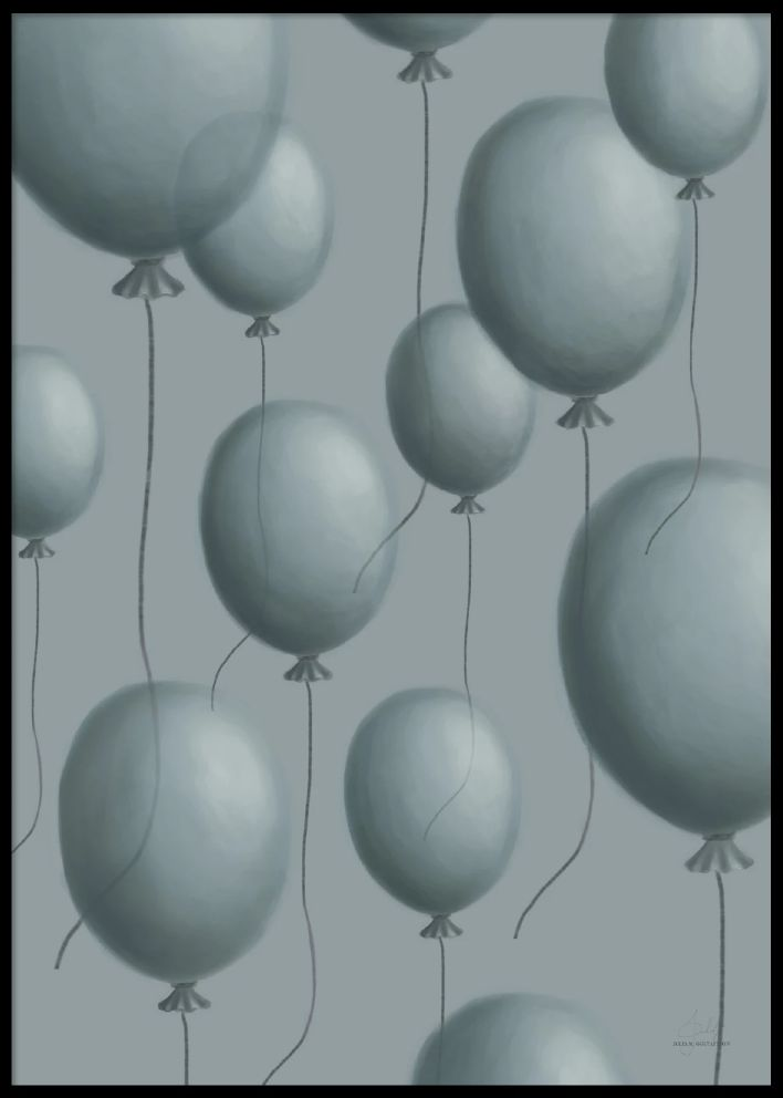 PAPERTOWN - POSTER BLUE BALLONS