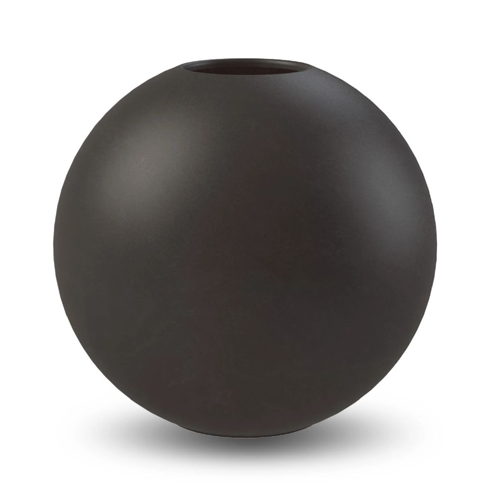 COOEE - BALL VASE BLACK 30CM