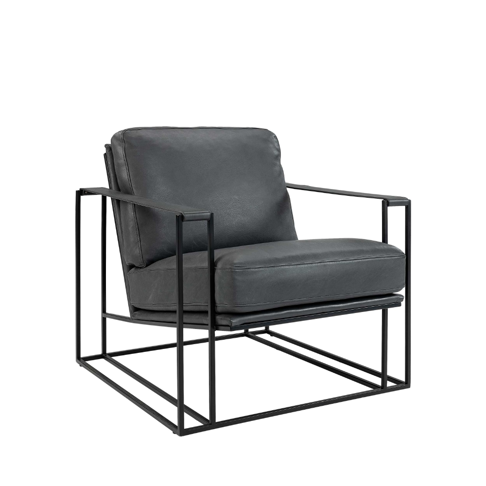 ARTWOOD - LOUNGE STOL BELLAGIO Blå/svart 75x87x72