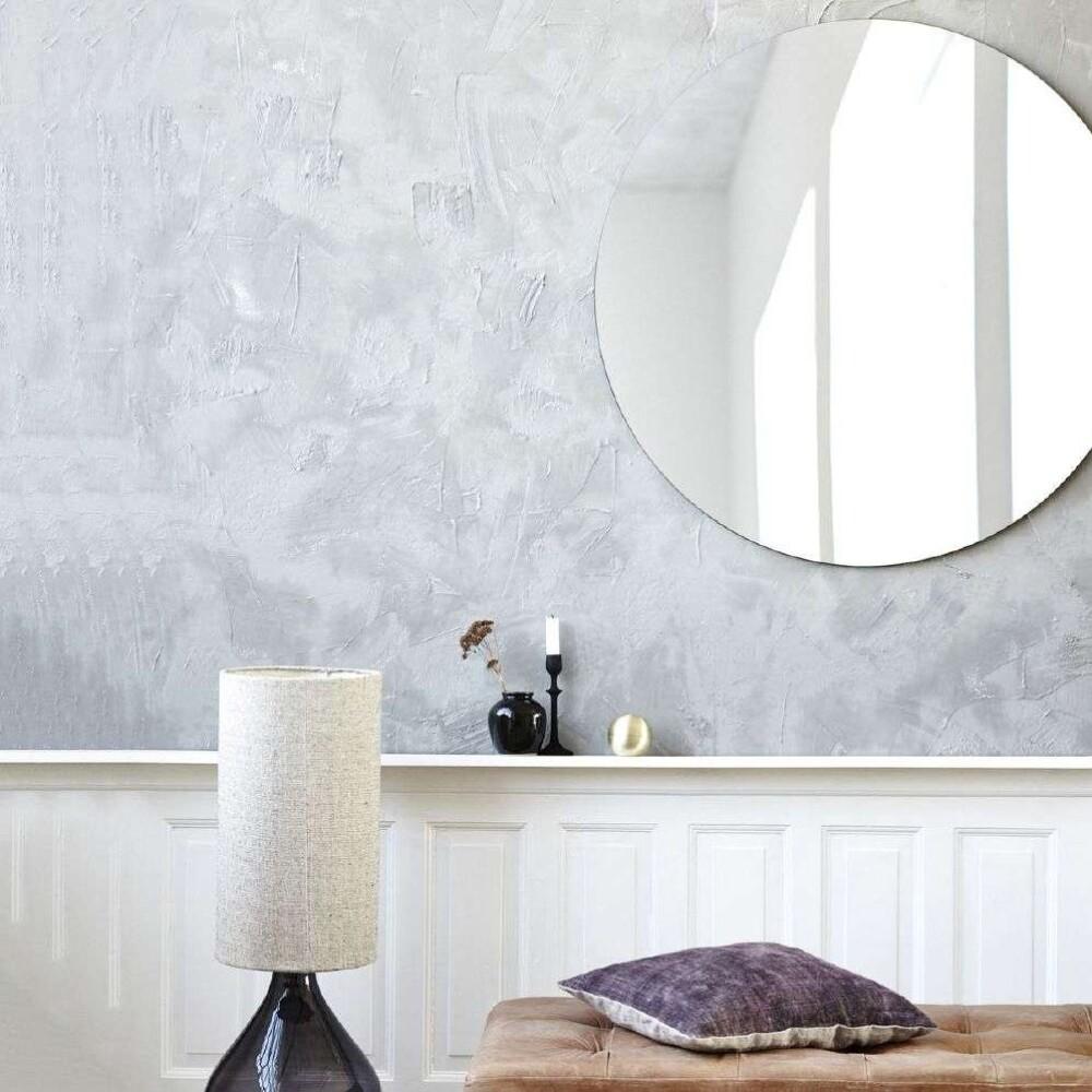 Voksduk blå med prikker