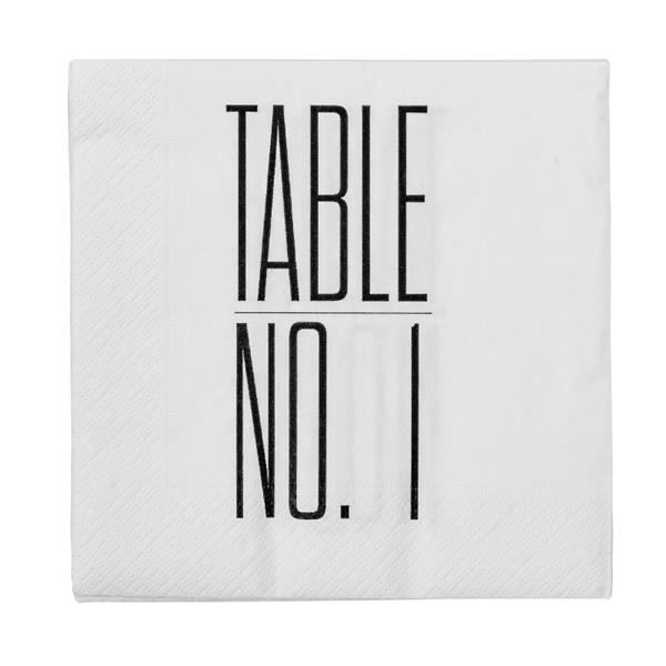 "Serviett ""Table No1"""