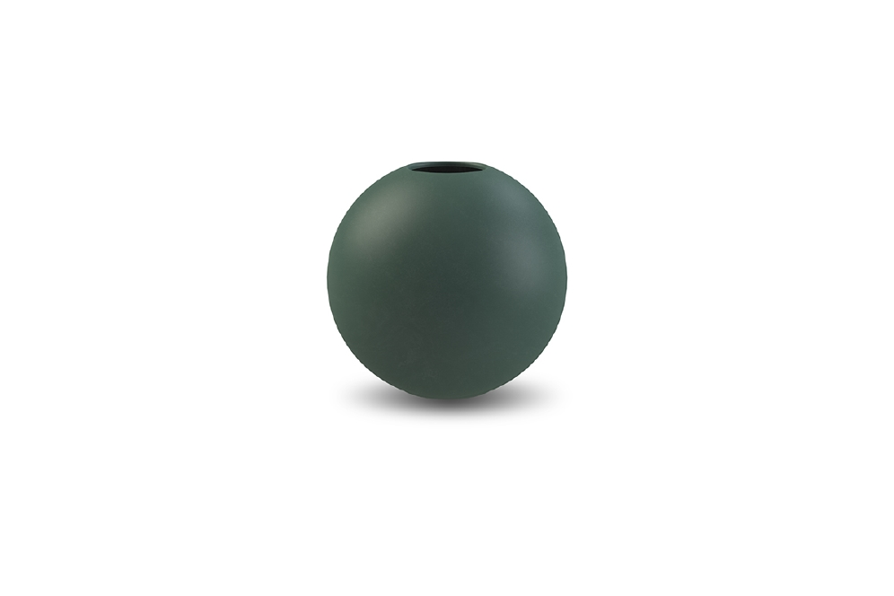 COOEE - BALL VASE DARK GREEN