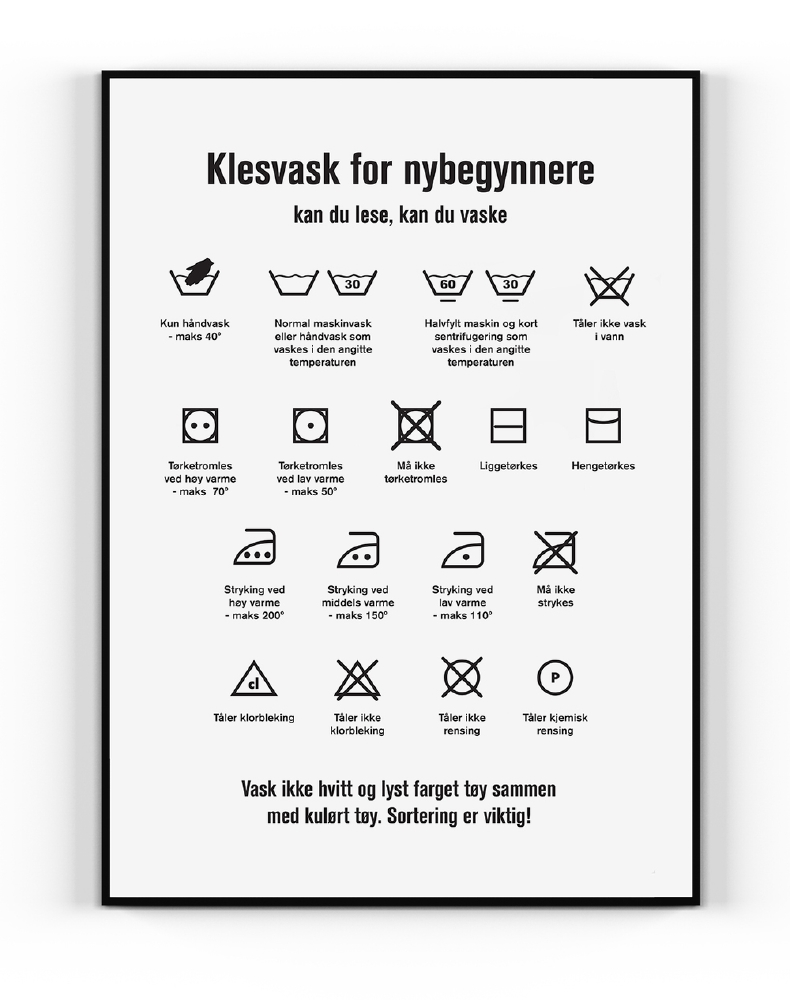 "Happy Star - Plakat ""Klesvask"""