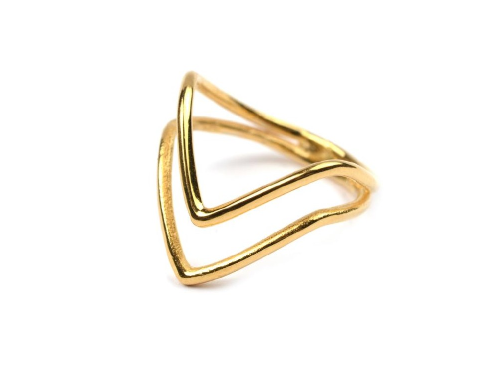 Tiny Arrow ring, gold